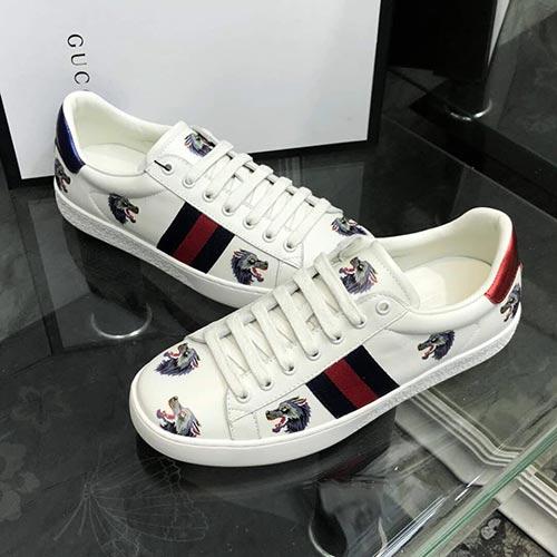完美搭配:古奇Gucc小白鞋低帮运动鞋